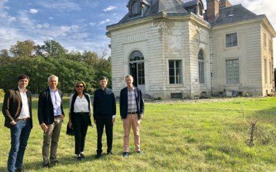 Visite du maire de Versailles, M. François de Mazières