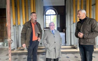 Visite du maire de Maisons-Laffitte, M. Jacques Myard